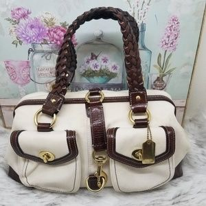 Coach satchel handbag purse